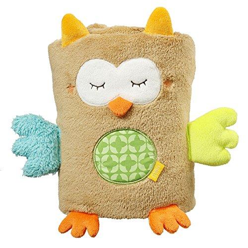 Fehn 071610 Kuscheldecke Eule / Kuschelige Schmusedecke für Babys und Kleinkinder ab 0+ Monaten - zum Kuschen, als Krabbelunterlage oder Schnuffeltuch, Maße: 100x75cm