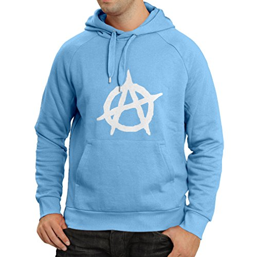 over Anarchistisches Symbol, anarchistisches politisches Design, Anarchie-Monogramm (Small Blau Weiß) ()