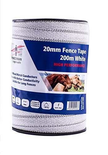 Fenceman haute Performance Blanc 20 mm x 200 m