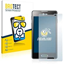 BROTECT AirGlass Protector Pantalla Cristal Flexible Transparente para LG Electronics E460 Optimus L5 II Protector Cristal Vidrio - Extra-Duro, Ultra-Ligero, Ultra-Claro