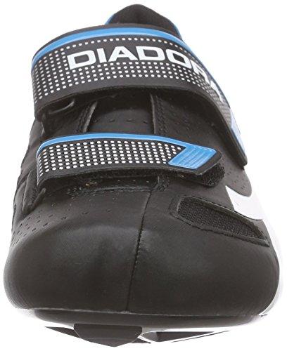 Diadora Phantom Ii, Scarpe da Ciclismo Unisex – Adulto Nero (noir (black/white/blue fluo5193))