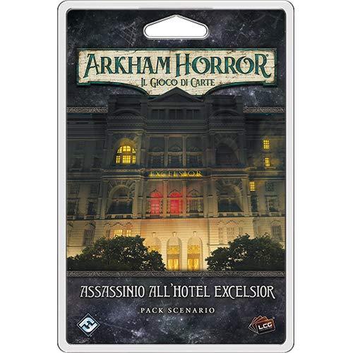 Asmodee Italia Arkham Horror LCG Assassinio al Hotel Excelsior expansión Juego de Mesa, Color, 9638