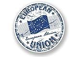 2x europäischen Union Vinyl Aufkleber Reise Gepäck EU Europa # 7073 - 15cm/150mm Wide