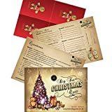 Christmas Quiz Pub Quiz Style - 30 Question Christmas Trivia Up To 8 Teams Or Players in cello bag - Postcard Sized - Secret Santa Gifts - Christmas Eve Box Fillers -