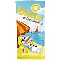 Disney Frozen Printed Velour Beach Towel Olaf Chillin In The Sunshine