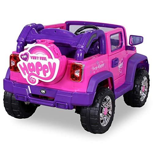 RC Kinderauto kaufen Kinderauto Bild 1: Kinder Elektroauto Jeep Pink Girly JJ235 Elektro Kinderauto Kinderfahrzeug*