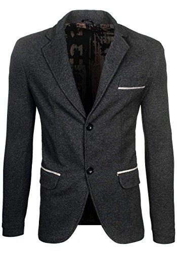 BOLF – Veston – Blazer – Boutons – élégant – classique – COOLBERG 606K – Homme Anthracite-gris
