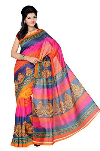 Ishin Art Silk Saree (Ishin-1807_Multi-Coloured)