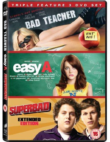 Bad Teacher / Easy a / Superbad - Set [3 DVDs] [UK...