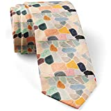 Photo de Beauté Couleur Art Formes Skinny Slim Fashion Cravate pour hommes, Nouveauté Cravates Conversation Cravates, Cadeau Parfait par Warm Night