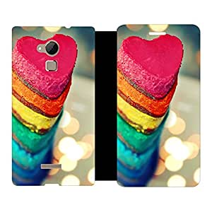Skintice Designer Flip Cover with hi-res printed Vinyl sticker wrap-around for Coolpad Note 3