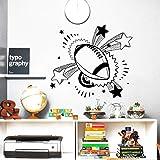 Modeganqingg Dernière Creative Sticker Ballon Rugby Sport Décor Nursery Boy Room Vinyle Amovible Sticker Mural 63cmX56cm