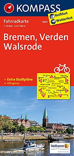 KOMPASS Fahrradkarte Bremen - Verden - Walsrode: Fahrradkarte. GPS-genau. 1:70000: Fietskaart 1:70 000 (KOMPASS-Fahrradkarten Deutschland, Band 3013)