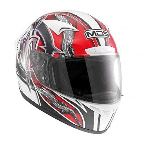 AGV Casco moto M13 MDS E2214, Multicolore(Pennello Bianco/Rosso), L