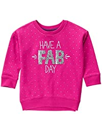 Gymboree Big Girls' Graphic Crewneck Sweatshirt
