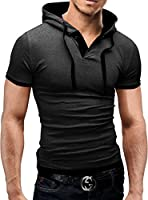 Merish Poloshirt Hemd Herren Slimfit Polo Hoodie 9 Farben 09