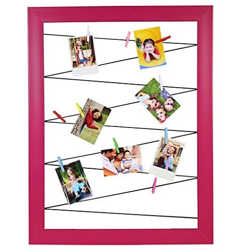 Polaroid Clothespin Rahmen für Fotoabzüge - Mit 10 Clips in verschiedenen Farben - Pink - Kompatibel mit HP Ritzel, Fuji Instax Mini 9,...