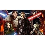Athah Designs 220 GSM Paper WALL POSTER 13*19 Inches Star Wars Episode III: Revenge Of The Sith Star Wars Darth Sidious Yoda Anakin Skywalker Obi-Wan Kenobi Padmé Amidala
