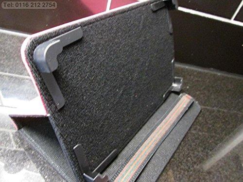 Dark Pink Sicherer Multi Winkel Case/Ständer für Coby Kyros Internet Tablet MID7042 (Netzkabel Für Coby Tablet)