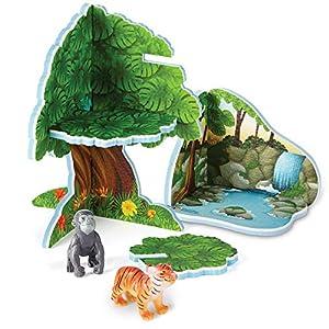 Learning Resources- Set de Juego Jumbo con Animales de la Jungla, Color (LER0832)
