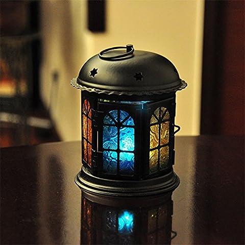 Upper-La princesse classique fer à repasser Chambre chandelier en verre mariage romantique européenne créative lanterne d'ameublement de maison, petits ornements