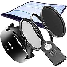 Lumos Passion Connect Juego de accesorios Completo Compatible con Nikon D5300D3300con AF-S DX Nikkor 18–105mm f/3.5–5.6G VR/disparador remoto ML-L3& Parasol HB de 32& 67mm Filtro UV & filtro polarizador cpl & filtro gris ND16& Funda