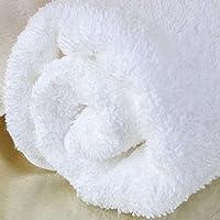 Pakistan Cotone per aumentare asciugamano di cotone da ricamo Bra uomini adulti e Donne addensare Bambino avvolto in un asciugamano ( colore : Bianca )