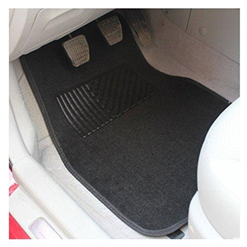 Chytaii Auto Fußmatten Auto Teppiche universal 4-teilieg Set für Auto Fahrzeuge schwarz