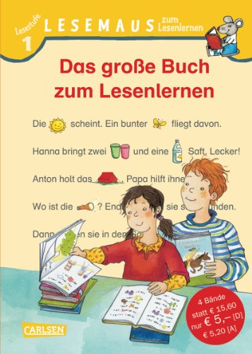 LESEMAUS zum Lesenlernen Sammelbände: Das große Buch zum Lesenlernen: Bild-Wörter-Geschichten - mit Bildern lesen lernen