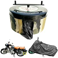 BIKEBLAZER Semi Automatic Bike Cover Water Resistant for Royal Enfield Classic 350, 500, Bullet 350, 500 Water Resistant…