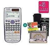Casio Streberpaket FX-991DE Plus + Schutztasche + Lern-CD + Geometrie-Set + Erweiterte Garantie