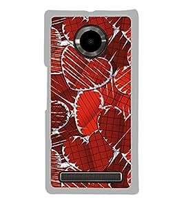 Hearts 2D Hard Polycarbonate Designer Back Case Cover for YU Yuphoria :: YU Yuphoria YU5010
