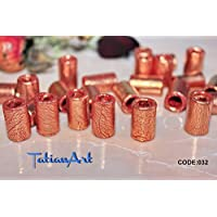Tubular Beads Old copper. 5pcs. Tube Beads Dreadlock jewelry Jewelry supplies Polymer clay beads Tubular beads.
