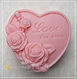 LC Flower Love N051Mould Craft Art Silikon Seife Form Craft DIY, Seifengießform Kerze handgefertigt