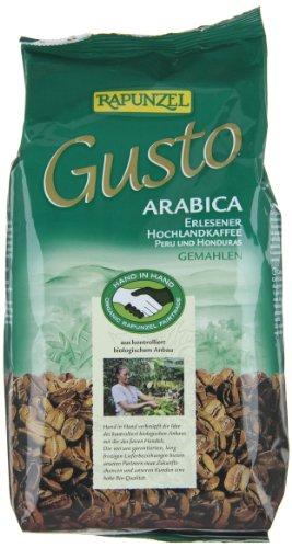 Rapunzel Gusto Arabica gemahlen HIH, 2er Pack (2 x 500 g) - Bio
