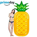 Pool Float, Lounger Swimming Float Pool Toy Inflatable Pool Toys with Rapid Valves Pool Seat Boat Float Swim Ring for Summer Beach Toy Pool Party Games Toy Pineapple