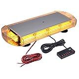 40 LED Advertencia Luz Flash EStroboscópica Barra Luz De Emergencia Impermeable Base Magnetica Ambar 40W 12 / 24V