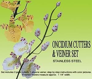 Orchidea Oncidium (Dancing Lady) Gumpaste Set Veiner e Cutter