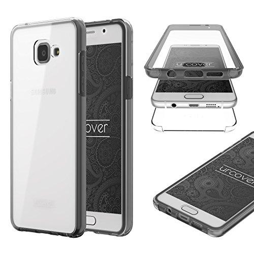 UrCover Custodia Galaxy A5 2016, nuova Touch Case 2017 Protezione 360 fronte retro trasparente Cover full body sottile Samsung Galaxy A5 2016 - Nero