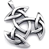 AnaZoz Joyería de Moda Acero Inoxidable Cadenas Collar Colgante Para Mujer Hombre Celtic Knot Amuleto 18-26 Pulgadas