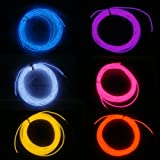 PK Green 5 Metre, 3.2mm Thick EL Wire With Battery Box, Neon Tube Glow Wire F...