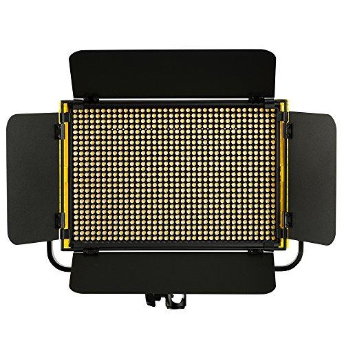 IKAN Onyx OYB5 Half x 1 Bi-Color Aluminum LED Light schwarz/gelb