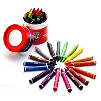 Sense 10136 Wax Crayons for Kids and Children, Set of 36 Easy Grip Jumbo Crayons