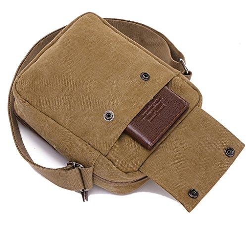 c5c70585ede SUPA MODERN® Men Small Vintage Canvas Messenger Bag Cross body bag Pack  Organizer Satchel Bag Durable Multi-pocket Sling Shoulder Bag