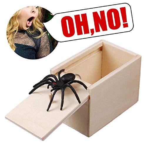 Spinne Scare Box Überraschung Box lustige Scare kleine Holzkiste Spinne beängstigend Mädchen für Kinder Erwachsene Partei begünstigt Geschenke ()