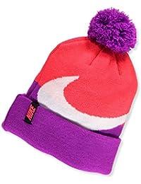 Nike Big Girls' Beanie (One Size) - bright crimson, 7-16