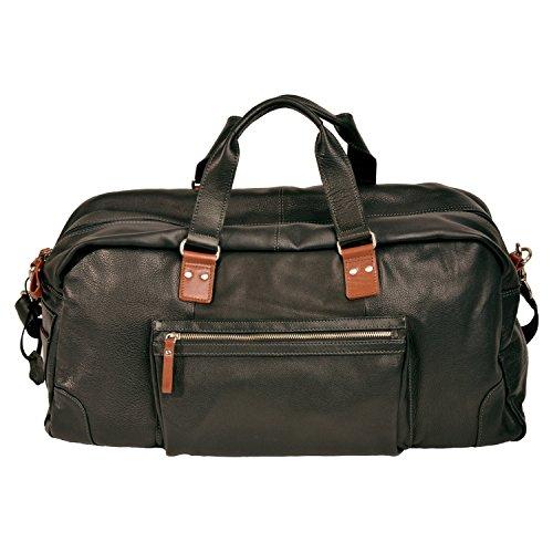 Grande borsa da viaggio - gym bag in vacchetta fettgegerbtes quaie di Shalimar nero