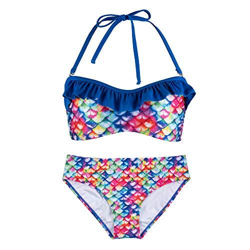 Fin Fun Bandeau Bikini Einstellen, Rainbow Reef Oben, Rainbow Reef Unterseite, Mädchen Groß
