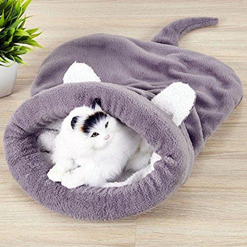 Yichener Haustierbett für Hunde und Katzen, aus Berber-Fleece, warmes Samt, weich, warme Matte, Hundezubehör -