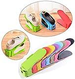 ZEZKT-Home 8 Stck Shoe Rack Verstellbare Schuh Slots Organizer Shoes Organizer Kunststoff Space Saver Halterung Rack in Zufällige Farbe